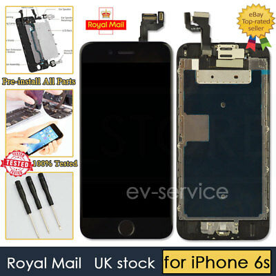 Black Screen For iPhone 6s Replacement Digitizer LCD Touch Home Button Camera