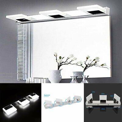 Modern Bathroom Vanity LED Light Crystal Front Mirror Toilet Wall Lamp Fixture A