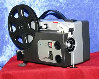 SUPER 8 and STANDARD 8 SANKYO 1000 DUALUX 8mm SILENT MOVIE PROJECTOR SERVICED A1