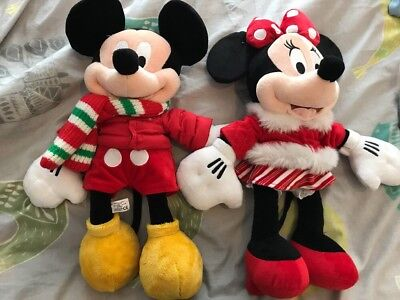 Disney Store Mickey &Minnie 2010 Plush Soft Toys Collectable