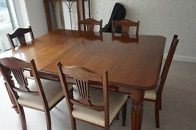 Original George iv - Antique Mahogany Extending Dining Table & Six Chairs - 1830