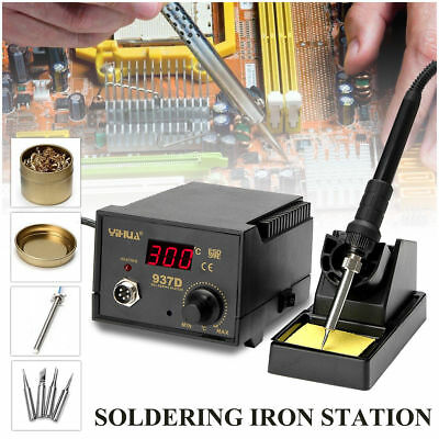 YiHua 937D+ ESD Soldering Station Solder Iron W/ Extra 5 Tips Stand Kit 230V 45W