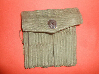 U.S.ARMY:: WWII , 'BRITISH MADE'1 MAGAZINE POUCH ,DOUBLE,WEB,CARBINE,Cal.30 M-1