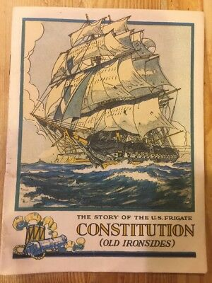 Story of the US Frigate Constitution (Old Ironsides) VINTAGE Booklet 1931