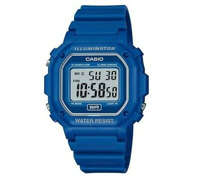 Casio Unisex Blue Digital Illuminator 30M Water Resistant Quartz Watch Brand New