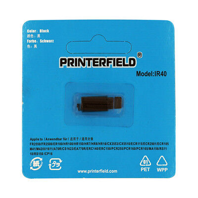 6 x IR40 IR-40 Black Ink Rollers for Sharp XE-A101 XE-A102 XE-A106 XE-A107 Casio