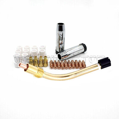 MIG Welding Torch Swan Neck Conical Nozzle Contact Tip Holder Difusser MB 36KD
