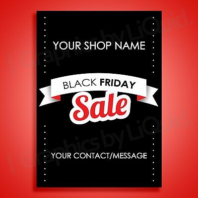 Black Friday Sale Retail Shop Sale Window poster Graphic Sign Personalised