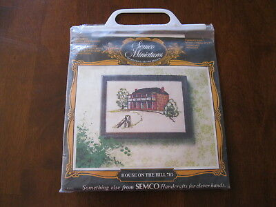 Semco Miniatures Crewel Embroidery: House on the Hill 781: Not started