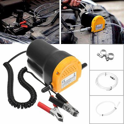 12V 60w Engine Oil Fluid Extractor Transfer Pump Electric Car Motorbike LD