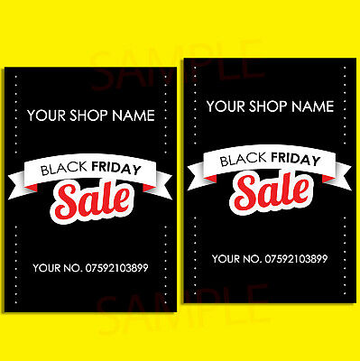 Black Friday Sale Poster Large & SALE SHOP Sign Adverts Poster PERSONALISED