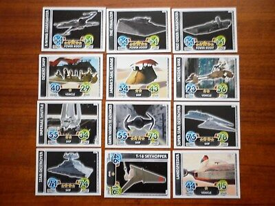 Star Wars - Force Attax Lot Of 12  (Topps collector cards) Lot 2