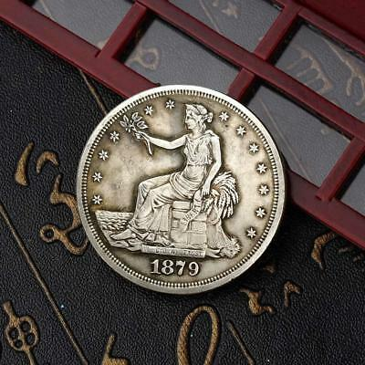1879 Flower Goddess Commemorative Round Coins Silver Plated Souvenir Coins TOP