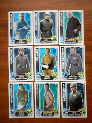 Star Wars - Force Attax Lot Of 9  (Topps collector cards) Lot 5