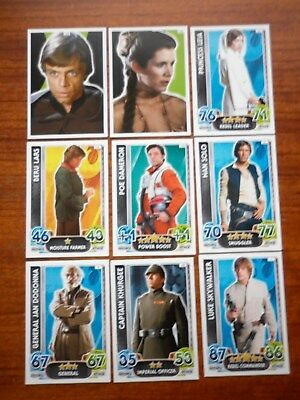 Star Wars - Force Attax Lot Of 9  (Topps collector cards) Lot 4