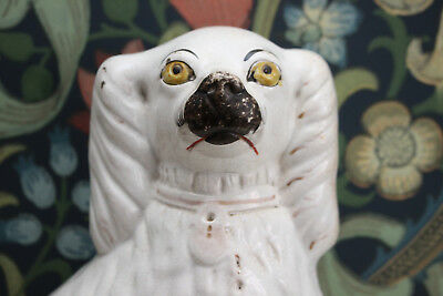 A Victorian Antique Staffordshire Spaniel or 'Wally Dog', Separate Front Leg