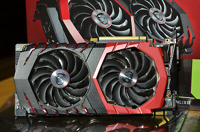 MSI GeForce GTX 1070 GAMING X 8GB GDDR5 Grafikkarte - Rechnung, TwinFrozr, VR