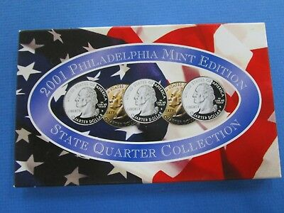 2001 USA State Quarter Collection Philadelphia Mint Edit Edition set of 5 Coins