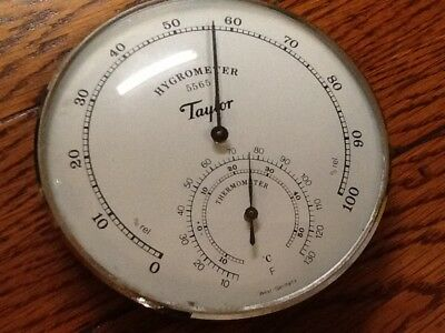 """Hygrometer Thermometer Taylor #5565 Made in West Germany Analog 5"""""""