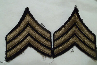 WW2 U.S. Army cotton on wool sergeant stripes pair off uniform, nice condition