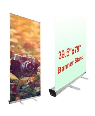 "Yescom Aluminum Trade Show Retractable Roll Up Portable Banner Stand 39.5""x7.9"""