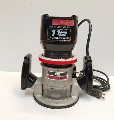 Craftsman 1.5 HP Fixed Based 1-1/2 HP 25000 RPM Heavy Duty Router Free Shipping