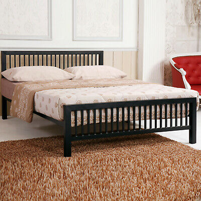Black Modern Metal Bed Frame 4FT Small 4FT6 Double 5FT King