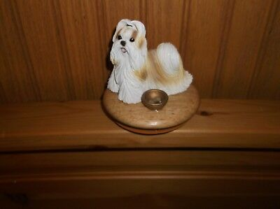Gold Shih Tzu Candle Jar Topper