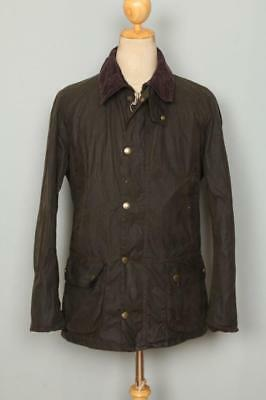 Mens BARBOUR Ashby WAXED Jacket Olive Size Small