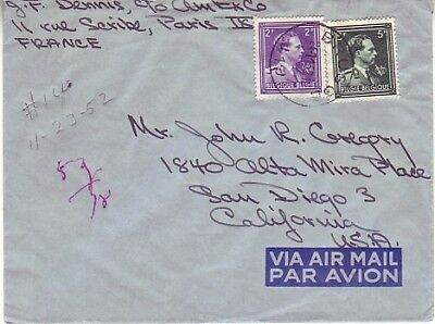 Belgium - Air Mail Covers Worldwide (2no. Air Mail Covers) 1952-58