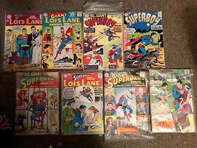 Superman ,Lois Lane,Superboy Bundle from 1950,s and 60's
