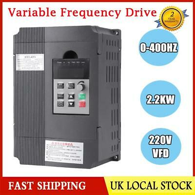 2.2KW 3HP 220V Single To 380V 3 Phase Variable Frequency Drive Inverter CNC VFD.