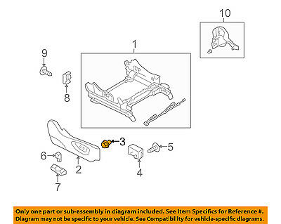 SUBARU OEM 05-14 Outback Seat Track-Recline Cover Clip 64115AG06A