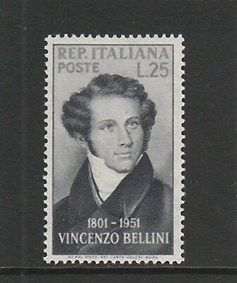 Italy - 1952 - 150Th Birth Anniversary Of Bellini (Composer) - 1V -  Mlh