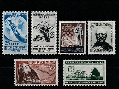 Italy - 1952 - A Selection Of Mint Stamps.