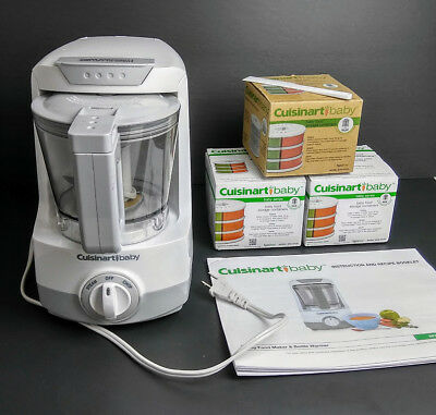 BUNDLE Cuisinart Baby Food Maker & Bottle Warmer  + 18 Storage Containers ++