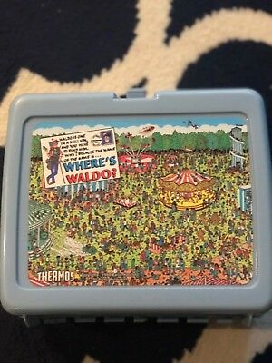 Vintage Thermos BLUE 1990 Where's Waldo Lunch Box - #2