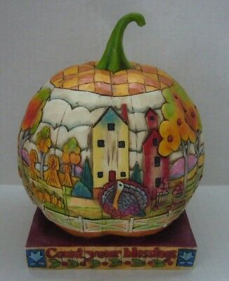 Retired 2004  Heartwood Creek by Jim Shore #118757 Count Your Blessings Pumpkin