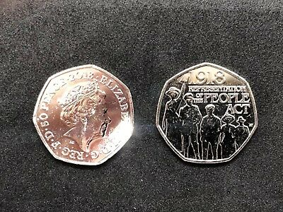 Representation Of The People Act 1918 - 50p Fifty Pence coin 2018
