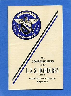 USS Dahlgren DLG 12 Commissioning Navy Ceremony Program