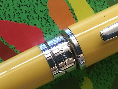 Dupont Olympia Orpheo Mini Series Ballpoint Pens Yellow Lacquer Rare