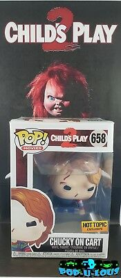 Funko Pop Movies Childs Play 2 #658 Chucky On Cart Hot Topic Exclusive