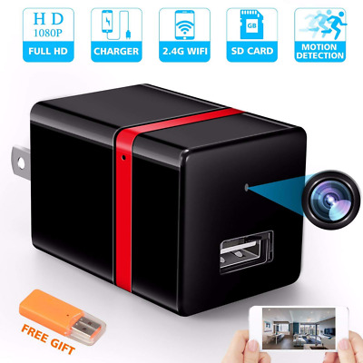 Wireless Hidden Camera WiFi HD 1080P Motion Detection USB Wall Charger Mini NEW