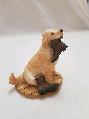 Country Artists Sherratt And Simpson- Retriever With Boot Figurine