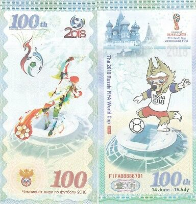 Russia..2018 World Cup 100 Rubles ,, Banknote..(S)