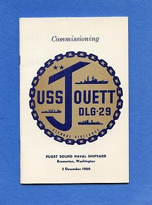 USS Jouett DLG 29 Commissioning Navy Ceremony Program