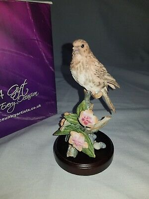 Country Artists Broadway Birds- Twite With Scarlet Pimpernel Figurine