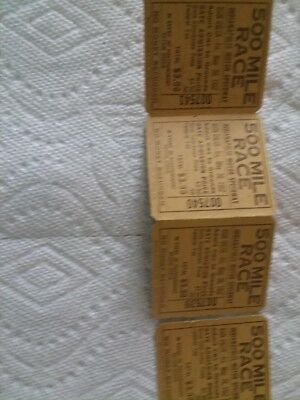 1952 Indianapolis International 500 Mile Race Tickets