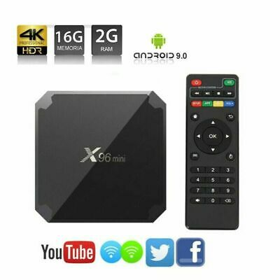 X96 Mini Android 7.1 Nougat Quad Core S905W 2GB 16GB TV BOX 4K Smart TV WiFi