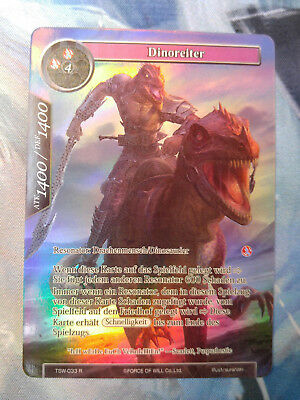 Force of Will Karte Dinoreiter TSW-033 Full Art Foil Deutsch